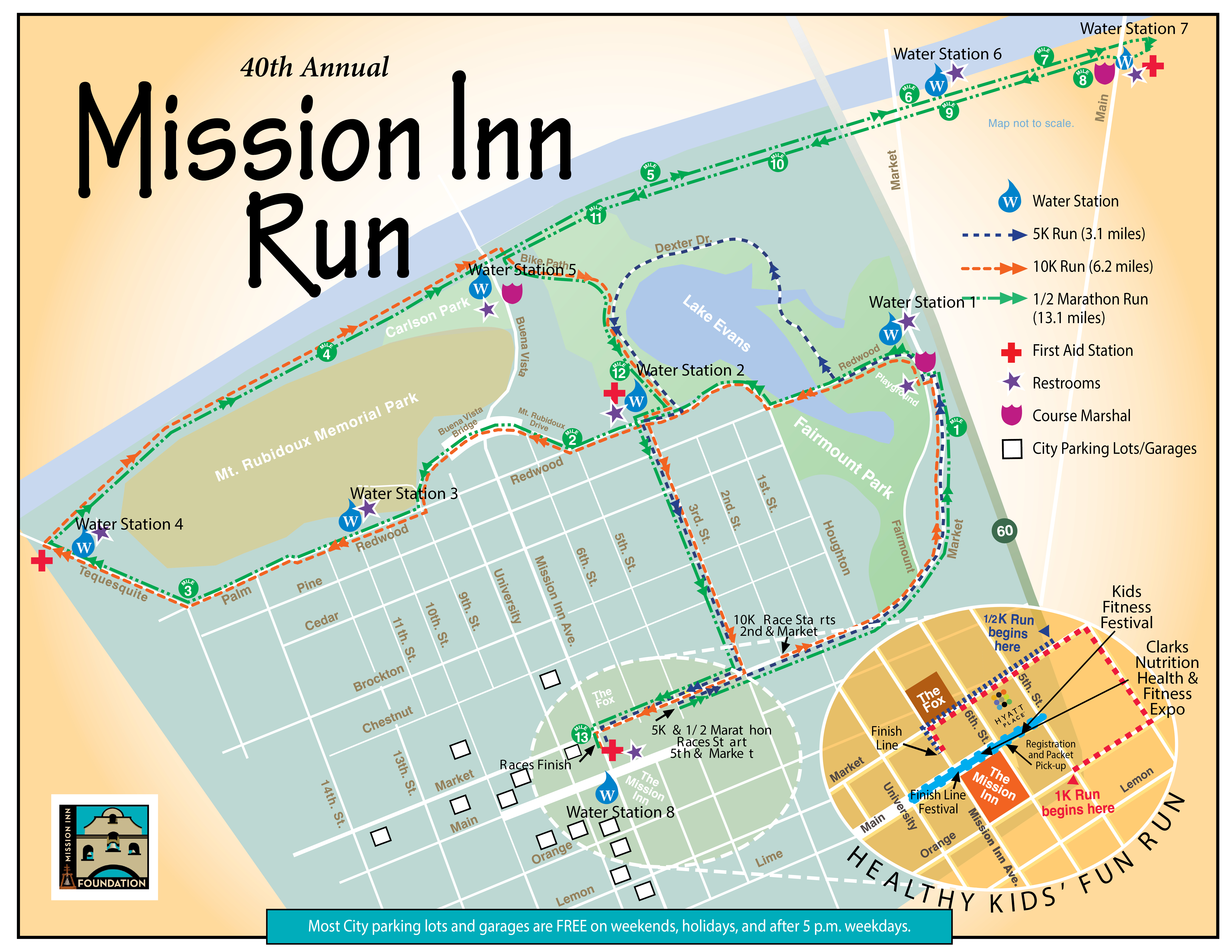 course  mission inn foundation - here is the official course map for the th annual mission inn run startplanning your race strategy now and make sure to look for landmarks alongthe